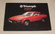 Triumph TR7 20 Page Sales Brochure 1977 - Ref 3256/A
