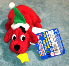 CLIFFORD THE BIG RED DOG Christmas Holiday Pals Toy  Wreath In Mouth BRAND NEW!