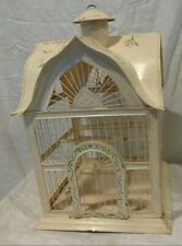 Decorative metal bird cage Vintage Style Painted Shabby Chic Planter garden