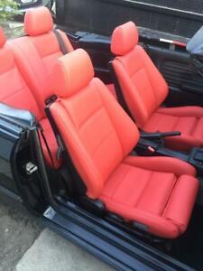 NEW BMW E30 325i 320i 318i  CARDINAL RED VINYL SEAT COVER