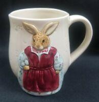 Otagiri The Edith Collection Mother Country Rabbit Bunny 3D Mug Vintage