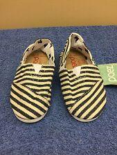 PAEZ Canvas Kids slip on shoes Shoes black/ivory SIZE 10 NWB