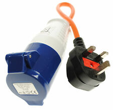 Red eléctrica de 230 voltios conversión plomo del Reino Unido Hook Up-Uk Plug