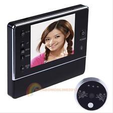 "3.5"" 3 X Digital Door Doorbell Peephole Viewer Peep Hole Camera DVR Night Vision"
