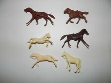 Lot of 6 Vintage Toy Horses Mix Marx? R17891