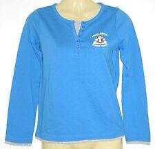 Girls JUST JEANS blue grey l/s shirt top sz 6 NEW bnwt