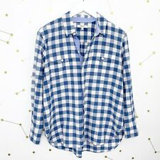 Madewell Shirt size Small Blue Buffalo Plaid Gingham Button Down Cargo Workshirt