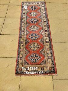 Afghan Kazak - Genuine hand knotted/handmade/oriental/ vintage rug runner