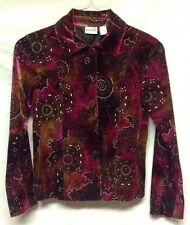 Chico's Magenta Jacket With Rhinestone Chips And Geometric Shapes - Size 0