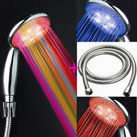 LED Brause Kopfbrause Duschkopf Duschbrause Handbrause mit 2m Schlauch