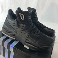 Adidas Dame 3 'Lights Out' Boys Grade School Size 5.5 Black Basketball Shoes NIB