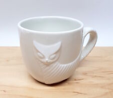 Jonathan Adler 3D Cat w/ Yarn Ball Mug Barnes & Noble White Porcelain Excellent!