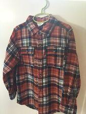 Boys Size 5-6 Long Sleeve Plaid Shirt Crazy 8 Gently Worn
