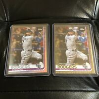 2019 Topps Update Series Brendan Rodgers #US45  Gold and Rainbow Parallel Lot
