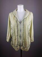 BIBA Damen Oberteil Shirt Gr. 46 Grun Langarm  Hemd