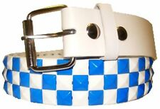 New BPS Cool Design PYRAMID Studded MENS WOMENS belts Faux Leather Multi Color