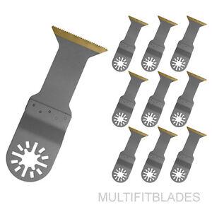 """10 x 1-3/4"""" Titanium Bi-Metal Oscillating Tool Blades- Milwaukee Multi Tool"""
