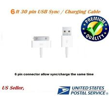 6ft 30 pin to USB Sync Data Charging Charger Cable for iPad 1 2 3 iPhone4 4s