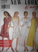 6476 Vintage NEW LOOK Pattern Misses Dress 6 8 10 12 14 16 UNCUT Sewing OOP SEW