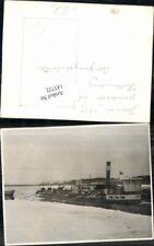143722,Foto gekenterter Schlepper b. Hollenburg Bergungsarbeiten 1939