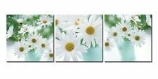 [Framed] White Daisy Flower Modern Canvas Prints Picture Wall Art Home Decor New