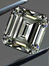 Asscher Loose Moissanite For Earrings/Jewelry/Ring 3.70 Ct Fancy Deep Gray Color