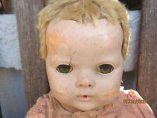 "Vintage Dy Dee Baby "" Doll  TLC Parts --creepy looking eyes"