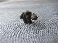 Vintage black plastic cat pull knob hatpin top for jewelry crafts make repurpose