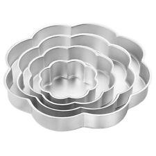 Set 4 Teglie Petali A Forma Di Fiore In Alluminio Per Torta A Piani Wilton