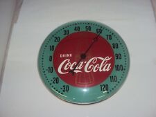 "VINTAGE COCA-COLA 1948 ROUND THERMOMETER 12""    942-Z"