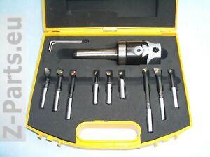 Bohrkopf / Ausdrehkopf Set 50 mm MK 3 / M 12 mit Aufbewahrungskoffer NEU