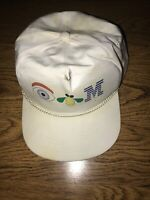 Vtg 80-90s EYE BEE M IBM Logo COMPUTERS Employee Swag Promotional HAT CAP