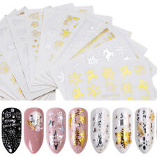 Christmas Nail Stickers Water Transfer Decals Snowflake Nail Art Decorations