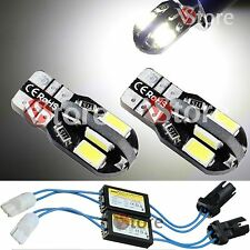 2 Lampade T10 Led 8 SMD 5730 No Errore CDB Canbus Luci BIANCO + 2 RESISTENZE