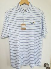 1 Nwt F&G Tech Men'S Shirt, Size: Medium, Color: White/Blue (J25)