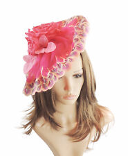 Fuchsia Pink Fascinator Hat For Weddings Ascot Kentucky Derby   SAMPLE  SALE   096d9a62e7d