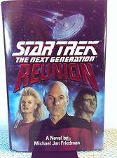 Reunion: Star Trek The Next Generation HARDCOVER 1991 Michael Jan Friedman