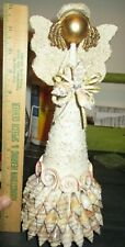 """New listing Seashell Angel 12""""tall Glitter and Sea Shells Exquisite approx 5""""wide"""