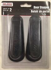 Brand New RUBBER DOOR STOP 4 Inch Black DOOR WEDGE STOPPER - 2 In Package