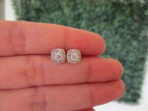 1.30 Carat Face Diamond Illusion Earrings 18k White Gold E359 sep