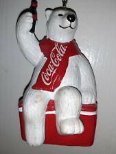 Coca-Cola Polar Bear On Ice Chest Ornament