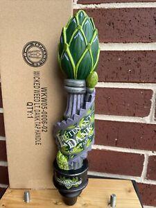 """Wicked Weed Lieutenant Dan k BEER Keg Tap Handle 12"""" North Carolina NEW IN BOX"""