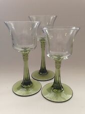 Partylite Candle Holders Stemmed Green Radiant Glow Votive discontinued rare