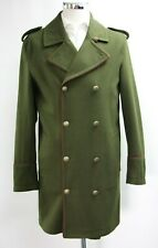 Men's Unbranded Dark Green Double Breasted Coat (M).. Sample 5794