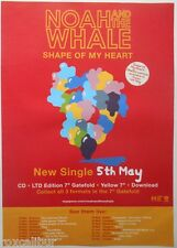 NOAH AND THE WHALE Shape Of My Heart Original Official UK Record Company POSTER
