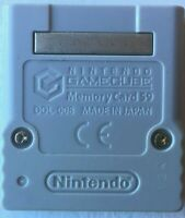 Official Nintendo GameCube Memory Card Authentic, Gray DOL-008 FREE SHIPPING