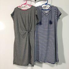 Lot Of 2 Girls Spring/Summer Striped Dresses Size 12