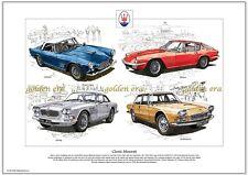 CLASSIC MASERATI - Fine Art Print - 3500GT Mistral Sebring & Quattroporte images