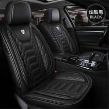 5-Seats Car Seat Covers PU Leather Seat Cushion Protector Front/Rear Set Sports