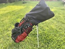Wilson Lizard Carry/Stand Golf Bag Double Strap 5 Way Black & Red W/ Rain Cover